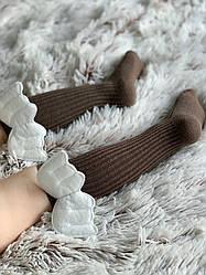 Гольфики с крылышками, светло-коричневые , 0-3