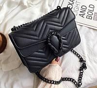 Маленькая женская сумочка клатч Подкова, мини сумка на цепочке через плечо сумка-клатс