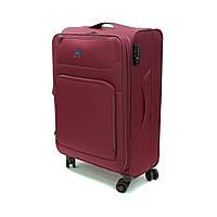 Легка тканинна велика валіза на 4 колесах Airtex бордова, фото 1