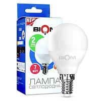 Світлодіодна лампа Biom BT-565 G45 7W E14 3000К матова