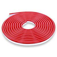 Світлодіодна стрічка NEON 220В JL 2835-120 R IP65 червоний, герметична, 1м