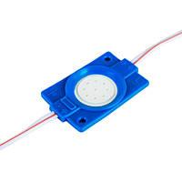 Світлодіодний модуль BRT COB 2.4 W круглий BLUE, 12В, IP65 синій