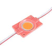 Світлодіодний модуль BRT COB 2.4 W круглий PINK, 12В, IP65 рожевий