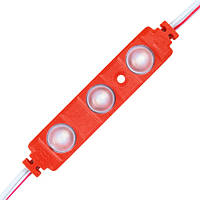 Світлодіодний модуль BRT XG191 5630-3 led W 1,5 W RED, 12В, IP65 червоний з лінзою півсфера