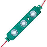 Світлодіодний модуль BRT XG193 5630-3 led W 1,5 W GREEN, 12В, IP65 зелений з лінзою півсфера