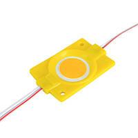 Світлодіодний модуль BRT COB 2.4 W круглий YELLOW, 12В, IP65 жовтий