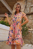 Сарафан женский с воланами французской длины цветочный принт