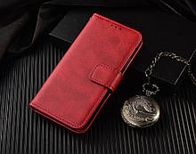 Чохол - книжка Xiaomi Redmi Note 10 з силіконовим бампером і відділенням для карток Колір Червоний