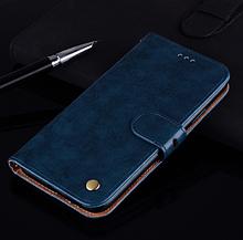 Чохол - книжка для Xiaomi POCO X3 з силіконовим бампером і відділенням для карток Колір Синій