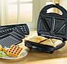 Сэндвичница BITEK BT-7405 3 в 1 - электрическая бутербродница, вафельница, гриль 800Вт, фото 2