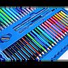 Набор для рисования 208 предметов с мольбертом. Набор для творчества, художественный набор чемоданчик Синий, фото 4