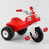 Детский велосипед трехколесный 07-119 Pilsan КРАСНЫЙ С БЕЛЫМ, клаксон
