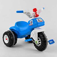 Детский велосипед трехколесный 07-119 Pilsan СИНИЙ С БЕЛЫМ, клаксон