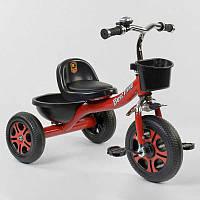 """Детский велосипед 3-х колёсный LM-3577 """"Best Trike"""" КРАСНЫЙ, пено колесо, метал. рама, звоночек, 2 корзины,"""