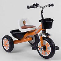 """Детский велосипед 3-х колёсный LM-5207 """"Best Trike"""" ОРАНЖЕВЫЙ, пено колесо, метал. рама, звоночек, 2 корзины,"""
