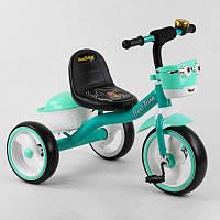 """Детский велосипед 3-х колёсный 80627 """"Best Trike"""" пено колесо EVA со светом и звуком, звоночек, 2 корзины,"""