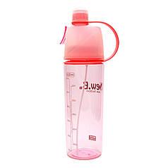 Спортивная бутылка для воды с распылителем New. B 600 ml Красная (7182toi4501)