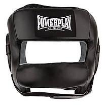 Боксерський шолом тренувальний PowerPlay 3067 з бампером PU + Amara L Чорний (PP_3067_L_Black), фото 3