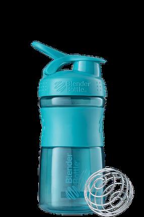 Спортивна пляшка-шейкер BlenderBottle SportMixer 590 ml Teal, фото 2