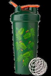 Спортивный шейкер BlenderBottle Classic Loop 820 ml Special Edition Green-Coral Art Palm