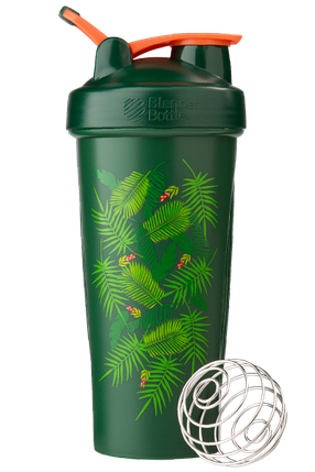 Спортивний шейкер BlenderBottle Classic Loop 820 ml Special Edition Green-Coral Art Palm, фото 2