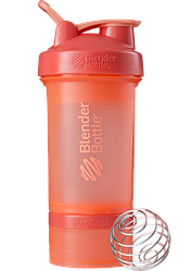Шейкер спортивный BlenderBottle ProStak 650 ml с 2-мя контейнерами Coral