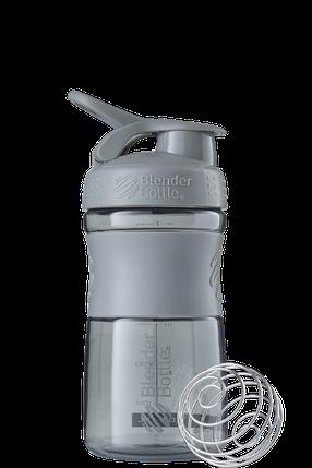 Спортивна пляшка-шейкер BlenderBottle SportMixer 590 ml Grey, фото 2