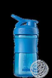 Спортивная бутылка-шейкер BlenderBottle SportMixer 590 ml Cyan