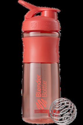 Спортивна пляшка-шейкер BlenderBottle SportMixer 820 ml Coral, фото 2