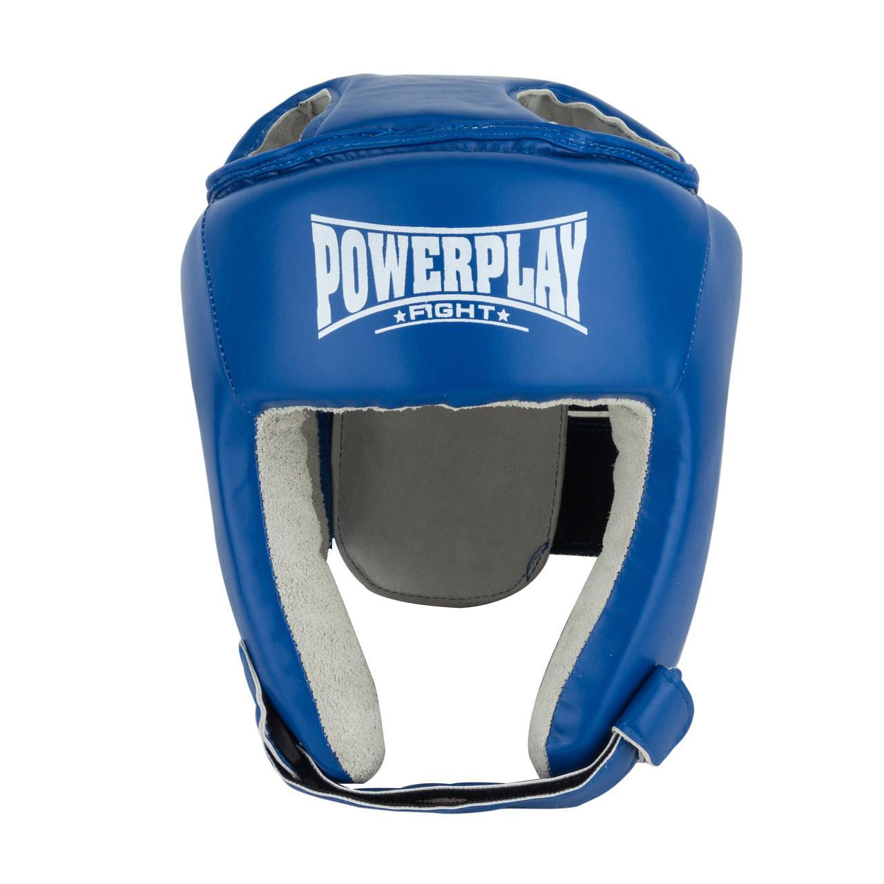 Боксерський шолом тренувальний PowerPlay 3084 L Синий