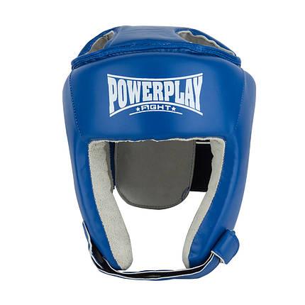Боксерський шолом тренувальний PowerPlay 3084 L Синий, фото 2