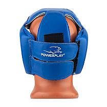 Боксерський шолом тренувальний PowerPlay 3084 M Синій, фото 2