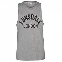 Майка Lonsdale Muscle Vest Grey Marl - Оригінал, фото 1