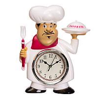 "Часы ""Радушный повар"" 28*22*5см, материал пластик, цвет белый (2003-033)"