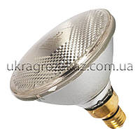 Инфракрасная лампа для обогрева PAR38 100 Вт UFARM белая