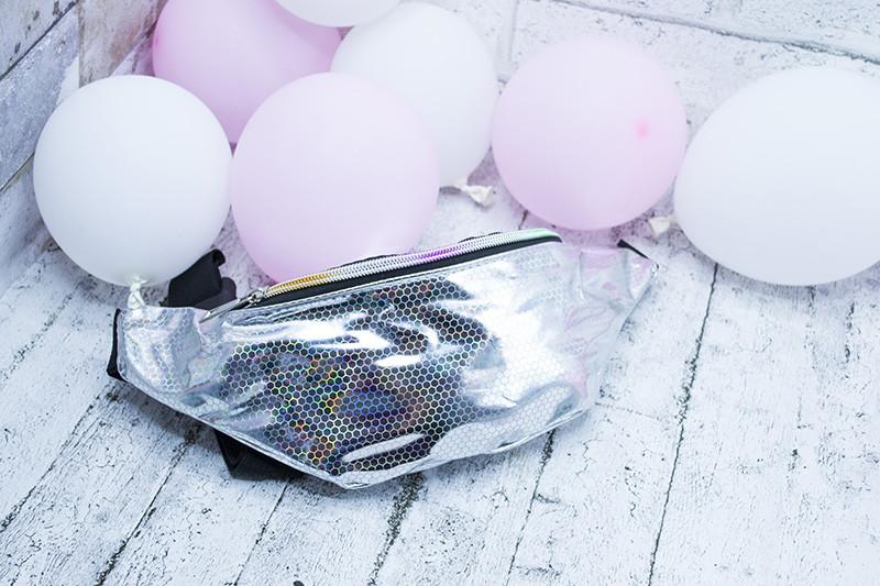 """Голографическая сумка на пояс""""Соты"""" (12 шт разных цветов)"""