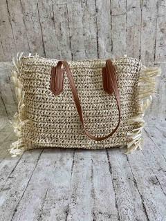 Квадратна плетена сумка 2 Кольори : Світлий