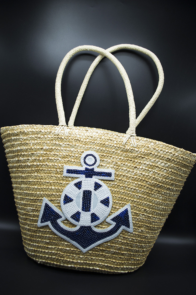Пляжна плетена сумка ЯКІР