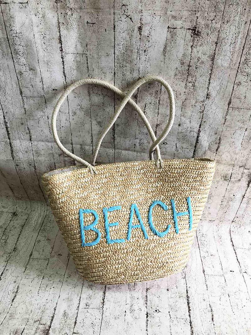Пляжная плетенная сумка BEACH