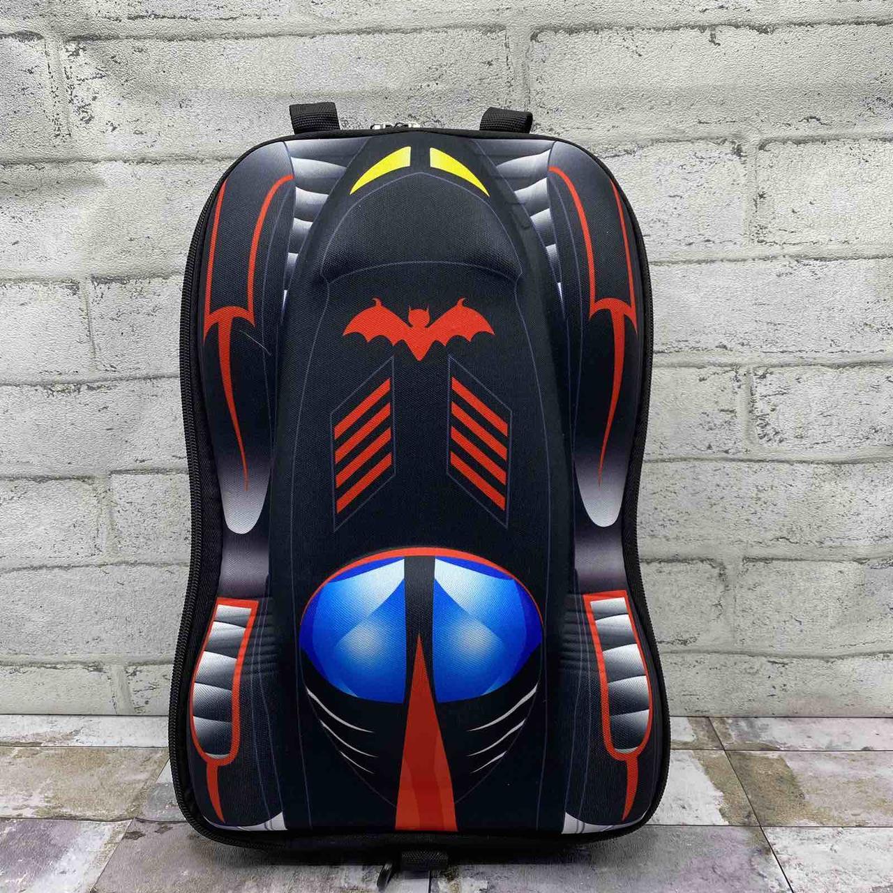 Детский 3д рюкзак машинка , цвет черный