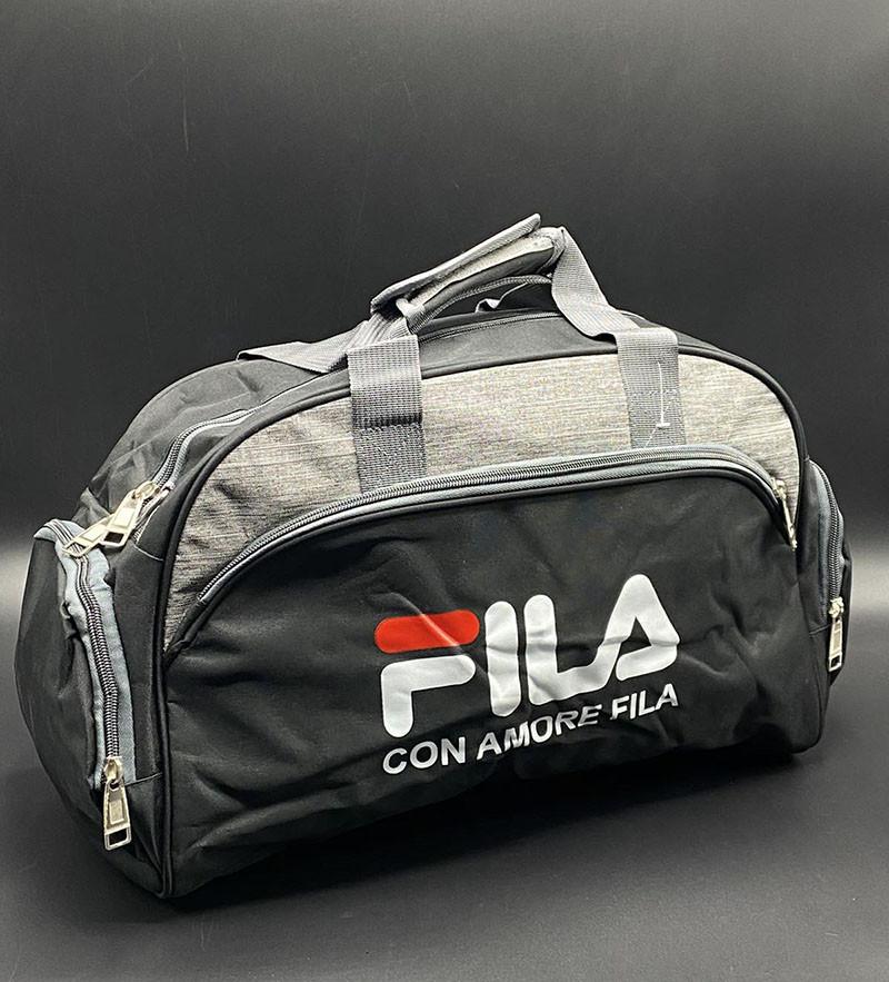"""Дорожно-спортивная сумка """"Fila"""" Цвет: Чёрный"""