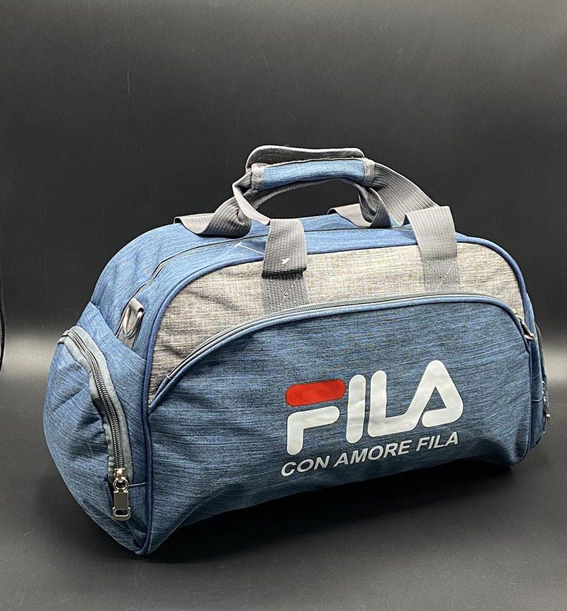 """Дорожно-спортивная сумка """"Fila"""" Цвет: Голубой"""