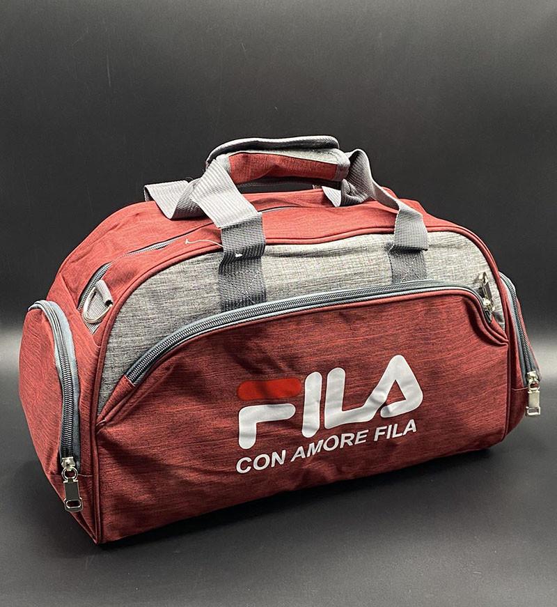 """Дорожньо-спортивна сумка """"Fila"""" Колір: Червоний"""