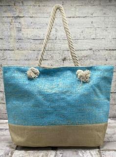 Летняя сумка с люрексовой нитью(золото)