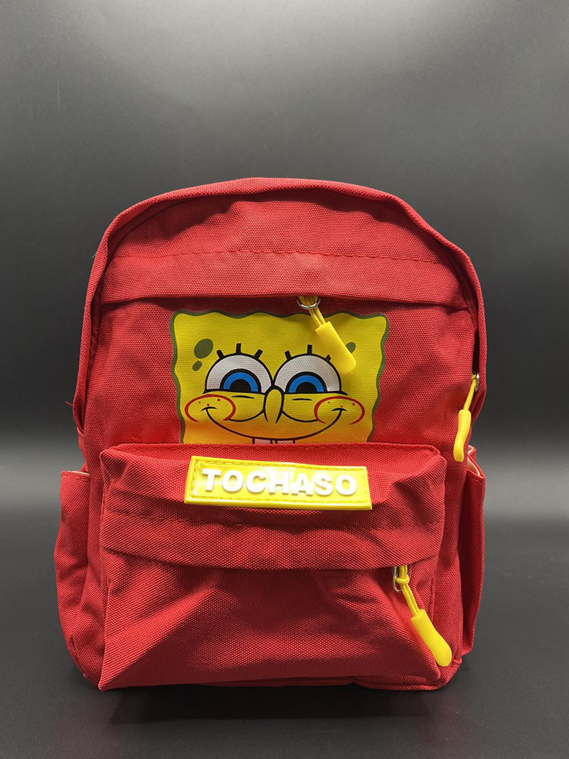 """Дитячий рюкзачок """"Губка Боб"""" Колір: Червоний 25х20х10 см"""