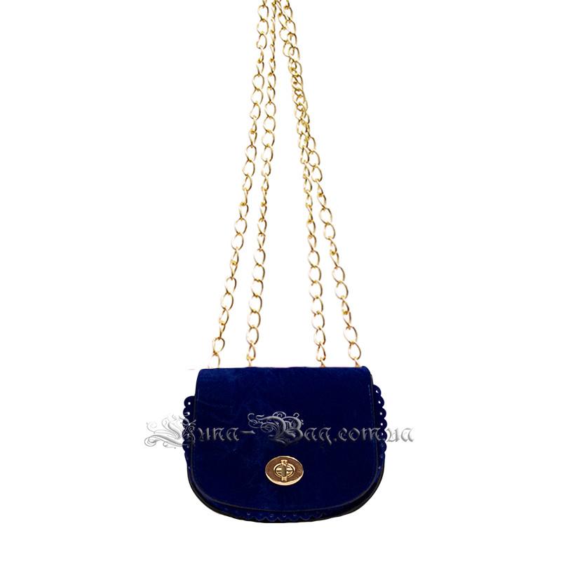 Женская сумочка-клатч 5 Цветов Синий (14x16x6 cm.  длина плечевого ремня 120 сm.)
