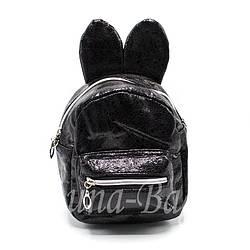 """Рюкзак с ушками""""Hdm""""Цвет:Черный"""