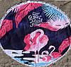 Пляжне покривало з яскравим принтом Фламінго Рожевий, фото 2