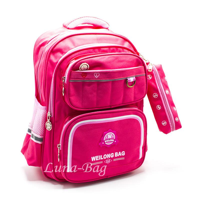 Рюкзак Шкільний 4 Кольори Рожевий