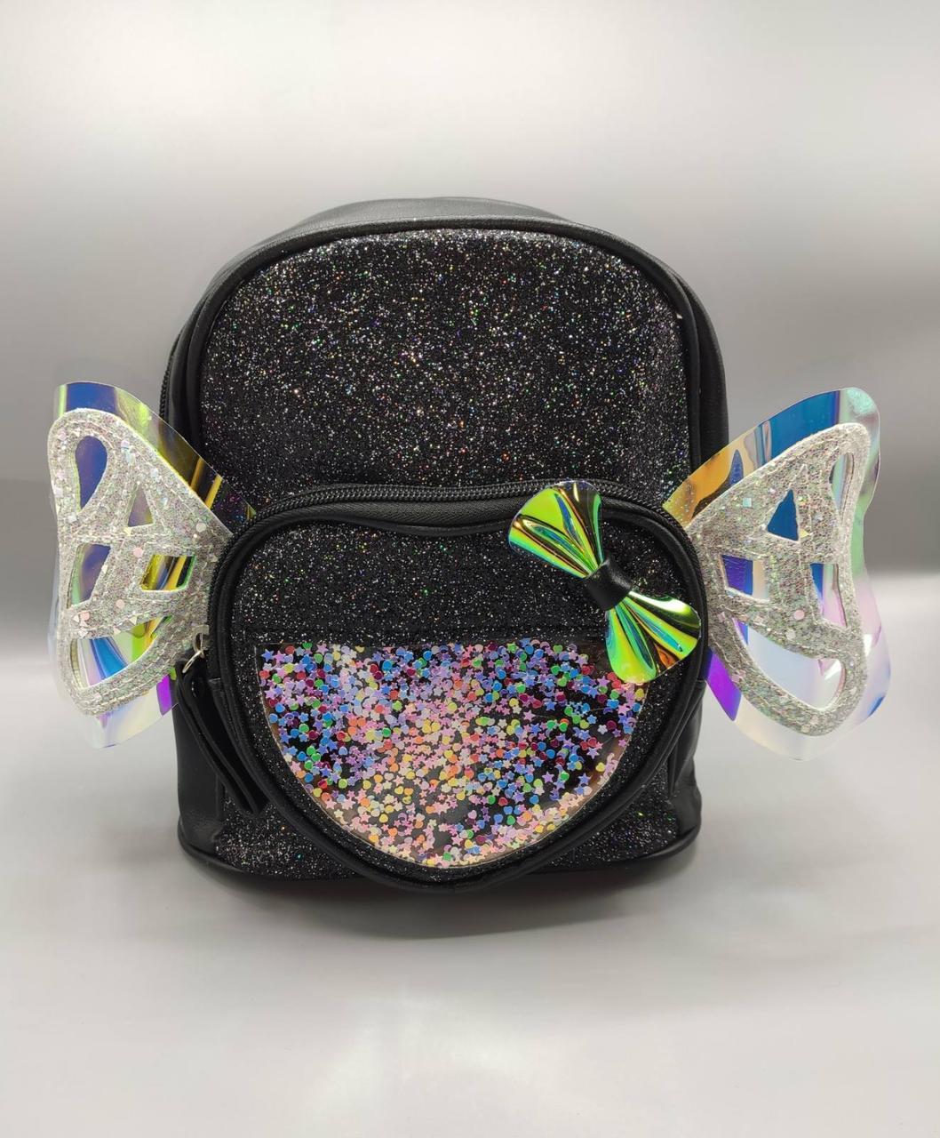 Дитячий рюкзак з крилами 4 кольори - чорний